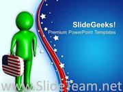 ENJOY THE HOLIDAY OF INDEPENDENCE DAY POWERPOINT TEMPLATE