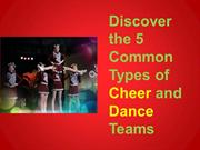 Discover the 5 Common Types of Cheer and Dance Teams