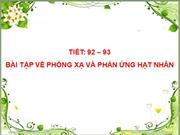 Bai tap ve phong xa va phan ung hat nhan