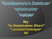 Microalbuminuria in Diabetic and hypertensive patients: Therapeutic Ap
