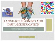 Language Learning and Distance Education