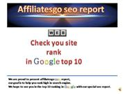 seo report - site content analyze