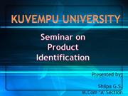 Product Identification ppt