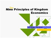 Ten Principles of Biblical Economics