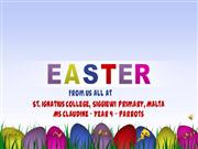 Easter Greetings  Year 4  Ms Claudine