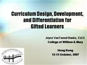 v2_Differentiation for gifted learners -