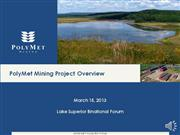 PolyMet Mining Project Overview