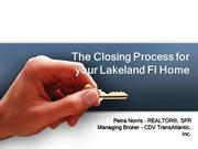 The Closing Process for your Lakeland Fl Home