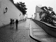 Prague in the rain