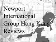 Newport International Group Hong Kong Reviews - Designer savors acclai