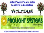 Solar Power Plants Solar Lanterns in Bangalore