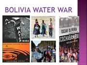 BOLIVIA WATER WAR