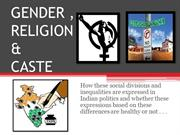 Gender , religion and caste
