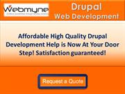 Drupal Website Developers for Ecommerce Development in India