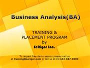 Business Analyst Training & Placement Program