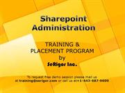 Sharepoint Admin Training PPT