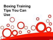 Boxing Training Tips You Can Use