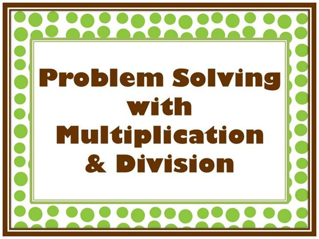 Problem solving using multiplication