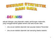 BAB III Ukuran Statistik bagi Data hand out
