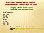 Caterpillar 3306 Marine Diesel Engine for Sale