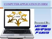 COMPUTER APPLICATION IN HRM