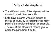 Parts of An Airplane Quiz