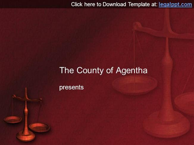 Scales of Justice Powerpoint Background Template |authorSTREAM