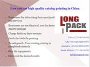 Low cost yet high quality catalog printing in China