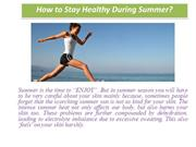 How to Stay Healthy During Summer updated