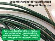 Ubiquiti lawsuit filed - Radio and Cable Failure
