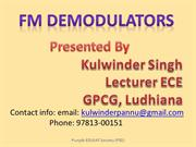 FM Demodulators