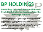 bp holdings blog and press releases