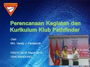 PERENCANAAN KEGIATAN DAN KURIKULUM PATHFINDER KLUB