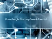 Does Google Plus Help Search Results