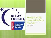 EcoFriendly_Relay For Life