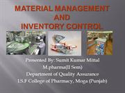 material management and inventory control by sumit kumar