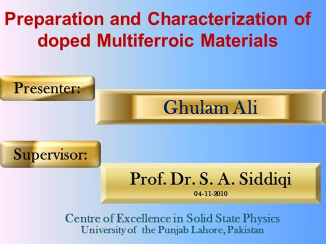 Multiferroic Materials |authorSTREAM