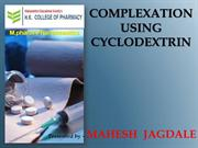 COMPLEXATION USING CYCLODEXTRIN