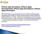 iPhone App Developer, iPhone Apps Development, iPhone App Developers
