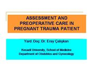 Asessment of pregnant trauma patient.Cal