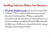 Staffing Solution Makes You Business