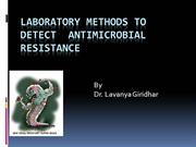Antimicrobial resistance detection