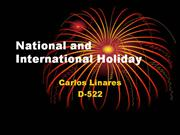 National and International Holiday