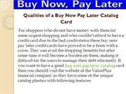 Qualities of a Buy Now Pay Later Catalog Card ppt