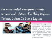 the crown capital management jakarta international relations For Many
