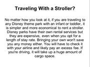 Traveling With a Stroller?