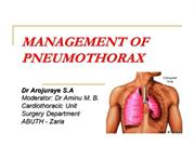 MANAGEMENT OF PNEUMOTHORAX