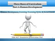 Bases of Curriculum Human Development