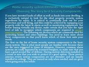Home security system Elements - Techniques for Choosing
