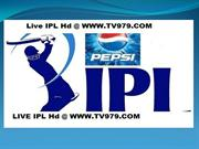 Sunrisers Hyderabad vs Pune Warriors India Live Streaming